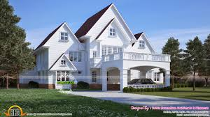American Home Design American Style House In Kerala Kerala Home Design And