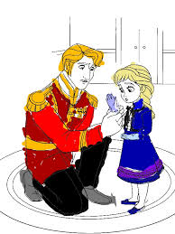 Small Picture The King Arendelle Put Gloves to Young Elsa Coloring Page