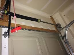 newly replaced garage door spring
