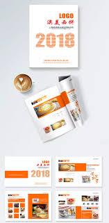 Restaurant Menu Book Design 2018 Restaurant Dessert Promotional Pastry Orange Album