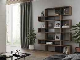 Perfect Modern London Shelving Unit Or A Bookcase In A Lovely Walnut Wood Finish  With Matt Black ...