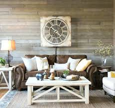 living room brown leather sofa farmhouse living room a light and airy look with a brown