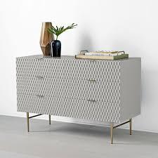 audrey 6 drawer dresser mist gray