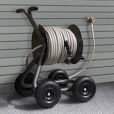 portable hose reel outside
