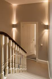 stair lighting. decorative lighting on stair half landings
