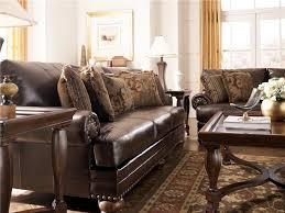 captivating durablend leather sofa signature design ashley furniture chaling durablend antique