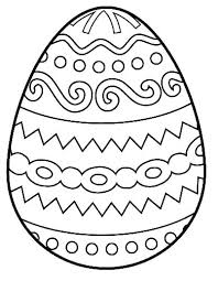 Printable Coloring Pages Easter Eggs Egg Coloring Page Free