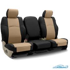 premium leatherette custom seat covers leatherette 2 tone black cashmere
