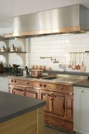 Rectangular Kitchen Copper Range Designed In Industrial Kitchen Over Rectangular