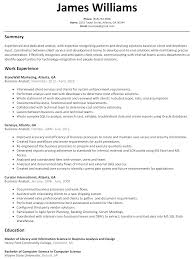 business analyst resume sample com