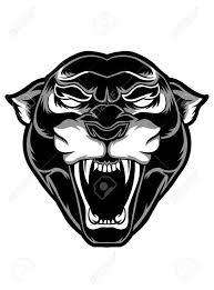 Black Panther Vector Tattoo Sticker Poster Background Design