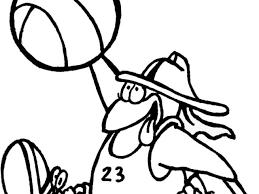 Disegno Di Basket Cartone Animato Da Colorare Per Bambini
