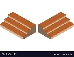 3d design for wooden steps vector image