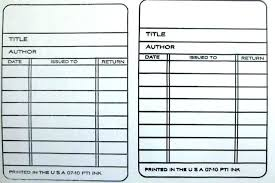 Pocket Template Library Book Card Template