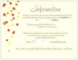 how to word hotel accommodations for wedding invitations wedding invitation information hotel information for wedding