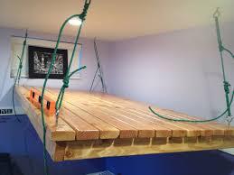 bedroom floating loft designs bunk diy hanging beds ceiling instructions plans design unique frame with