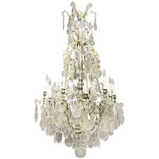 impressive late 19th century gilt bronze and baccarat crystal chandelier for