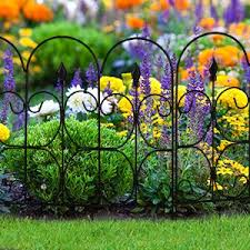 garden barrier. Perfect Barrier Amagabeli Decorative Garden Fence Coated Metal Outdoor Rustproof 32in X  10ft Landscape Wrought Iron Wire Border Fencing Folding Patio Fences Flower Bed  And Barrier X