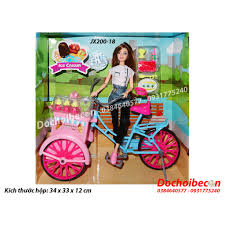 Mua Búp bê Barbie có khớp (FuQier) - Xe bán kem JX200-18 chỉ 185.000₫