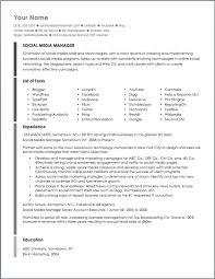 social media marketing resume sample for social media marketing resume  sample - Social Media Marketing Resume