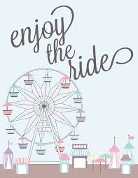 free printable enjoy the ride art a houseful of handmade