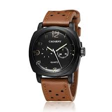<b>Cagarny</b> Sports Luxury Clock Hour Quartz Watch Black Dial <b>Men's</b> ...