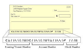 checking or savings account payment options pay your bill  a diagram of a paper check shows the routing number and account number