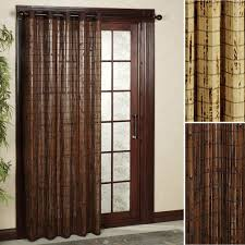 Patio Door Bamboo Grommet Panels - for more French Door Curtain ...