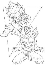 Dbz Super Saiyan Coloring Pages Gamecornerinfo