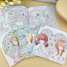 100pages beautiful colouring book secret garden coloring book for relieve stress kill time graffiti