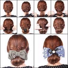 French Twist Hair Style shells 2pcs black donut doughnut ring mesh chignon magic foam 3875 by stevesalt.us