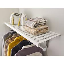 closetmaid 16 in x 72 in ventilated wood shelf kit in white