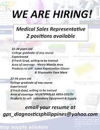 Resume For Medical Representative Job Resume Online Builder