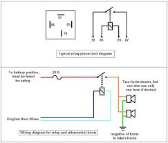 similiar horn relay wiring diagram keywords horn relay wiring diagram positive ground horn circuit diagrams