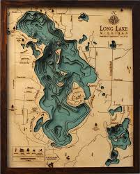 Long Lake Ny Depth Chart Wooden Topographical Maps Reveal Underwater Depths Wooden