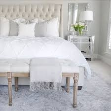 bedroom inspo tufted linen bed