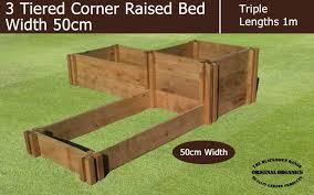 50cm wide 3 tiered corner raised bed blackdown range