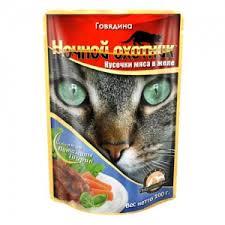 """<b>Консервы</b> для взрослых кошек """"<b>Ночной охотник</b>"""", с говядиной в ..."""