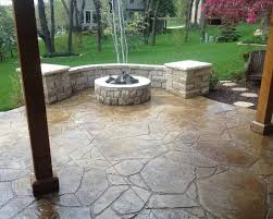 stamped concrete patio with fire pit cost. Wonderful Design Ideas Stamped Concrete Patio Designs Great Decorating Suggestion With Fire Pit Cost