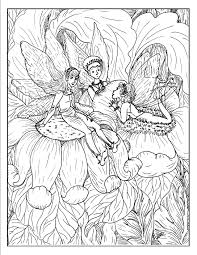 Chatty Fairies Fantasy Coloring Pages S