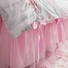 pink sheer bedskirt