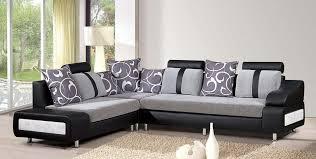 Chic Sofa Set Designs For Living Room Living Room Contemporary Black  Sectional Sofa With Grey Fabric