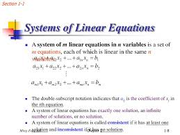 section 1 1 systems of linear equations