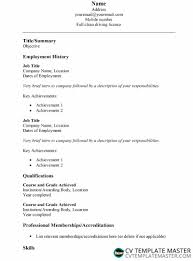 Simple Cv Template In Word How To Write A Cv
