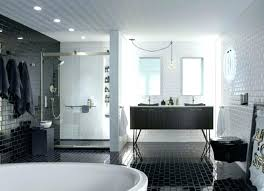 large white tile shower subway tiles shower bathroom with black and white subway tile large glass
