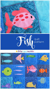 Fish Quilt Pattern – Shiny Happy World & Fish Quilt Pattern Adamdwight.com