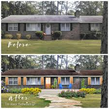 Ranch House Curb Appeal Ranch Home Exterior Makeover Before After Best 25 Home Exterior