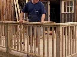 how to install deck railings and balusters howto diy network installing deck railing49
