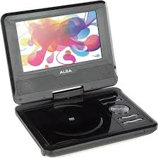 alba cdvd7sw 7 portable dvd player b