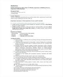 Resume Mission Statement Best Welding Resume Objective Welders Resume Editable Welding Resume